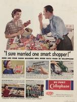 I Sure Married One Smart Shopper!' Here Are Four Good Reasons Mrs. Webb Buys Food in Cellophane