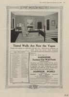 Tinted Walls Are Now the Vogue : Harrisons Sanitary Flat Wall Finish