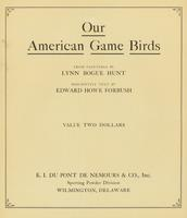 Our American Game Birds Title Page