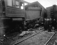 Aftermath of railroad accident at Emporium, Pennsylvania