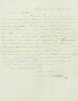 Correspondence, William Marshall to Henry du Pont, 1861-08-22