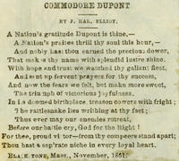 Poem by J. Hal. Elliot in honor of Admiral Du Pont