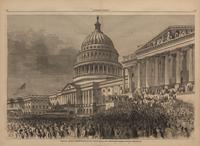 President Lincoln's Reinauguration at the Capitol, March 4, 1865