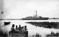 US Gunboat McDonough in Lighthouse Inlet