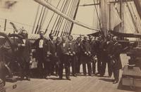 Rear-Admiral Samuel Francis Du Pont and Staff on the U.S.S. Wabash