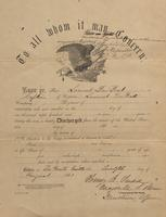 Military Discharge for Lammot du Pont, 1863-08-12