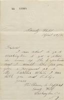 Correspondence, William S. Safford to Henry Algernon du Pont, 1872-04-29