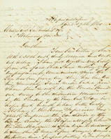 Correspondence, C.A. Belin to DuPont Company, 1861-04-29