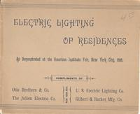 Electric Lighting of Residences as Demonstrated at the American Institute Fair, New York City, 1888