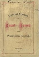Suburban stations and rural homes on the Pennsylvania Railroad