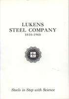 Lukens Steel Company, 1810-1960 : steels in step with science