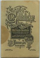 L & M Goldsticker illustrated catalogue -- bar room glassware and bottlers supplies
