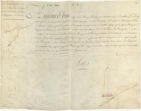 Royal Permission for Pierre Samuel du Pont de Nemours to accept a post at the Court of Baden, 1773-03-23