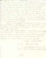 Contract, Henshaw and Company with E.I. du Pont de Nemours & Company, 1835-04-05