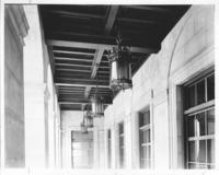 Exterior light fixtures at Chamber of Commerce building