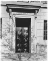 Closed door of Chamber of Commerce building