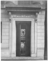 Open door of Chamber of Commerce building