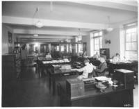 Office and workers in Chamber of Commerce building