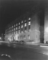 Chamber of Commerce building at night