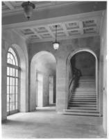 Arches and steps inside Chamber of Commerce building
