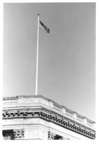 Flag atop Chamber of Commerce building