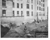 Foundation excavation workers of Chamber of Commerce building