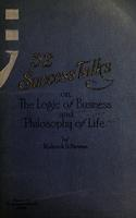 52 success talks on the logic of business and philosophy of life
