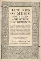 Hand book of music for violin and other instruments