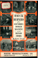Hauck Burners for Foundries, Boiler, Machine and Repair Shops