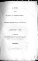 Address to the Citizens of Pennsylvania on the Importance of a More Liberal Encouragement of Agriculture : Accompanied with Inquiries on Agricultural Subjects Proposed by the Philadelphia Society for Promoting Agriculture, With a View to Form an Expose of