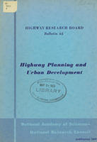 Highway Planning and Urban Development