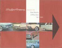 Ford Motor Company Presents the Ford Family of Fine Cars for 1961