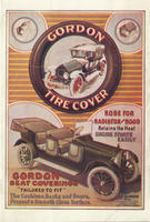 Gordon Tire Cover : Robe for Radiator and Hood Retains the Heat, Engine Starts Easily : Gordon Seat Coverings 'Tailored To Fit'