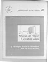Windows and People : A Literature Survey