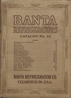 Banta Refrigerators, Catalog No. 10