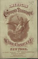 Compound Telegraph Line Wire, Manufactured by the American Compound Telegraph Wire Co.