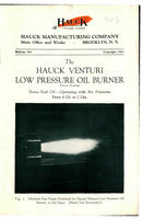 The Hauck Venturi Low Pressure Oil Burner