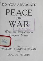 Peace or War : What the Preparedness Program Means