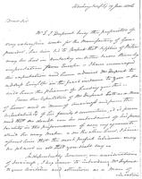 Correspondence, Aaron Burr to Dr. Samuel Brown, 1806-01-19