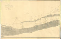 Plot of the lower end of Hagley yard, 1834