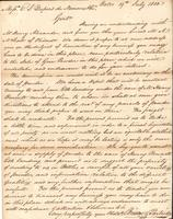 Correspondence, Briscoe and Partridge to E. I. du Pont de Nemours and Company, 1810-07-19