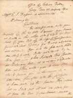 Correspondence, General John Mason, Superintendent of Indian Trade, to E. I. du Pont de Nemours and Company, 1810-08-30