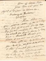 Correspondence, General John Mason, Superintendent of Indian Trade, to E. I. du Pont de Nemours and Company, 1810-04-23