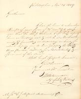 Correspondence, Thomas Waterman to E.I. du Pont de Nemours and Company, 1809-11-25