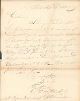 Correspondence, Thomas Waterman to E.I. du Pont de Nemours and Company, 1810-09-22