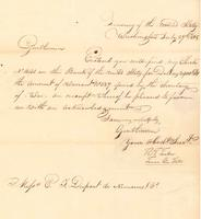 Correspondence, Thomas Tucker, Treasurer of the United States, to E.I. du Pont de Nemours and Company, 1808-07-27