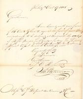 Correspondence, Thomas Waterman to E.I. du Pont de Nemours and Company, 1808-10-17