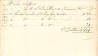 Receipt, Curtis Jefferis to E. I. du Pont de Nemours and Company, 1808-11