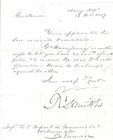 Correspondence, Robert Smith, Secretary of the Navy, to E.I. du Pont de Nemours and Company, 1807-12-14