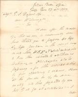 Correspondence, General John Mason, Superintendent of Indian Trade, to E. I. du Pont de Nemours and Company, 1809-10-27